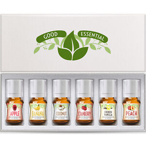Ohhh Fruit Good Essential Fragrance Oil Set Vanilla, Coconut, Banana, Peach