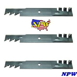 3 Replacement John Deere Toothed Blades AM104489