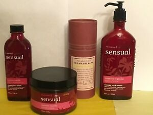 Bath & Body Works Jasmine Vanilla Body Mist Scrub Lotion Massage Oil Rare Set