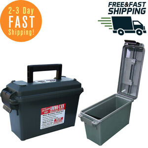 Ammo Can Field Box Storage Ammunition Case 30-Cal Military Plastic Waterproof