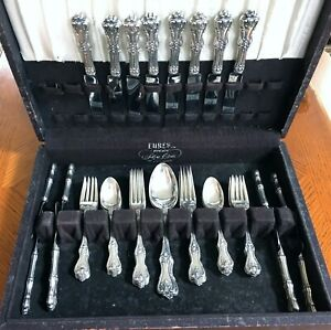STERLING SILVER FEDERAL COTILLION by FRANK W SMITH FLATWARE SERVICE FOR 8 42 PCS