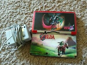 Nintendo 3DS Metallic Red System w 11 Super MarioZelda games