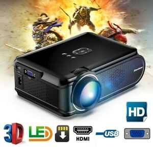 5000 Lumens Portable Full HD LCD LED Projector Multimedia Home Theater USB HDMI