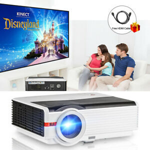 8000lm LED Home Theater Video Projector Multimedia Movie Game HDMI USB VGA 1080P