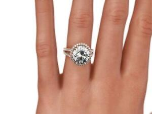 DIAMOND RING 3.8 CARATS VS1 14 KARAT ROSE GOLD RED FLAWLESS SIZE 6 7 8 COLORLESS
