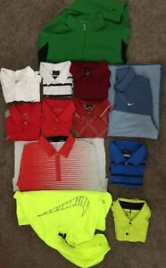BULK DISCOUNT Nike Golf Dri Fit Polo Lot 10 Mens Medium Shirts 2 Medium Jackets  $249.98