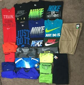 MAJOR BULK DISCOUNT Athletic Nike Dri-Fit Men's Shirts SIZE M Lot TeesShorts