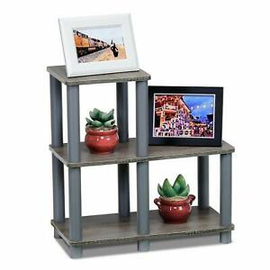 Modern Coffee Table Small Wood End Storage Stand Living Room Furniture Oak Grey