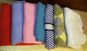 Cashmere sweaters for craft/cutter - 7 various colors & patterns - approx 3 lbs