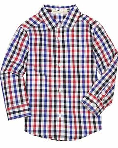 Deux par Deux Boys#x27; Plaid Shirt I Believe I Can Fly Sizes 18M 6