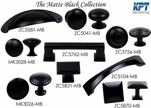 Knob Handle Pulls Matte Black Collection Kitchen Bathroom Cabinet Hardware $2.69