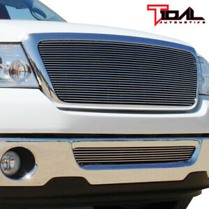 Tidal Fits 06-08 Ford F-150 Chrome Aluminum Billet Grille W/Shell