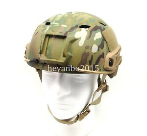 US LIGHTWEIGHT OPS-CORE FAST BASE JUMP MILITARY HELMET AOR1 MPCP Camouflage