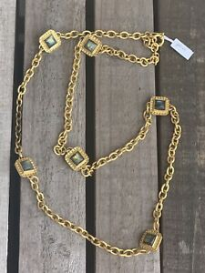 julie vos 24k Gold Plated Necklace With  Natural Stones