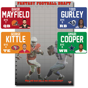 XL Fantasy Football Draft Kit 2019 - HUGE 1.83