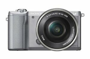 Sony Mirrorless Single Lens a5000 Power Zoom Lens Kit Silver Ilce 5000L S $424.30