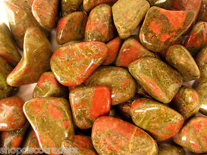 *SEVEN* Unakite Tumbled Stone 20-30mm QTY7 Crystal Healing Pregnancy Unborn