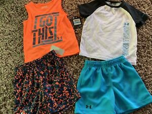 Under ARMOUR Boys 24 Month Outfits Lot 24m Toddler Shorts Tee Shirts