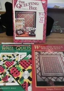 THREE WALL QUILTS BOOKS.THE QUILTING BEE..WALL QUILTS..WARM THE WALLS WITH QUILT $3.99