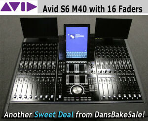 Avid S6 M40 16-5-D Demo Unit with 16 faders and 2 TFT Displays - Wow!