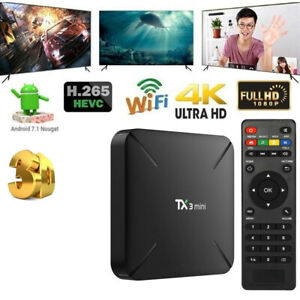 TX3 mini Android 7.1 TV Box S905W Quad Core H.265 8GB WiFi 4K Media Player V2O8
