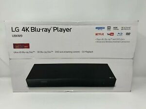 LG UBKM9 Streaming 4K Ultra HD Audio Blu-Ray with Dolby Vision  Black New Sealed