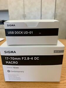 Sigma 17-70mm f2.8-4 DC Macro OS HSM Contemporary Lens for Nikon F and USB dock