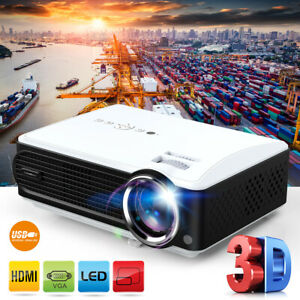 3D 7000 Lumens Full HD 1080P Home Cinema Theater Multimedia LCD LED Projector US