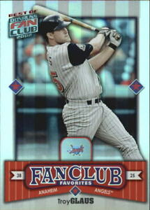 2002 Donruss Best of Fan Club Anaheim Angels Baseball Card #277 Troy Glaus
