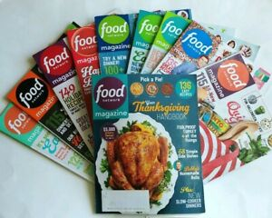 10 Food Network Magazine Lot Health Travel Recipes Baking Party Cooking TV