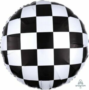 Cars Racing Checkers Birthday Party Decorations Mylar Foil Balloon 18