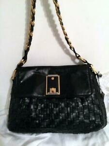 NEW w TAGS PREMIER MARC JACOBS BLACK LEATHER LARGE CHAIN SHOULDER BAG