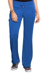 Bliss by Smitten Women's Ponte Front Panel Scrub Pant Color: Royal S201022 NWT