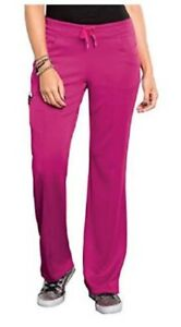 Bliss by Smitten Women's Ponte Front Panel Scrub Pant Jazz Berry S201022  NWT
