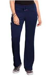 Bliss by Smitten Women's Ponte Front Panel Scrub Pant Navvy S201022  NWT
