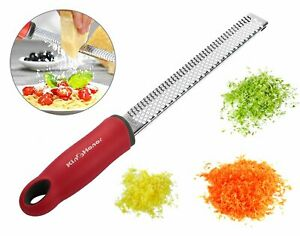 KinGHonor Zester Grater with Sharp Stainless Steel Blade, Cover,
