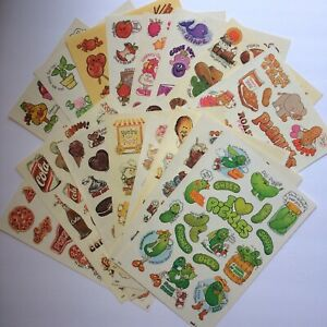 Lot of 16 Variety Scented Scratch & Sniff Sticker Sheets Mark 1 Chicago IL 1983