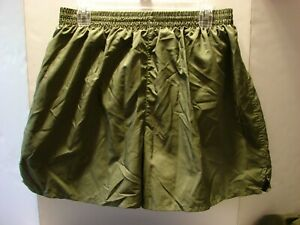 Unicor Vintage 90s Mens XL  Lined Running Jogging Shorts Military Green