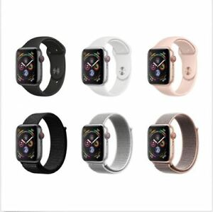Inbox Apple Watch Series 4 44MM 40MM Black White Sport Loop Band. GPS + CELLULAR