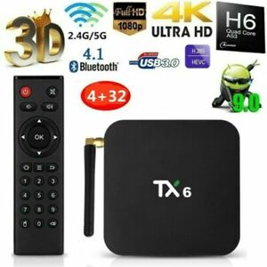 TX6 TV BOX H6 16G32G Android9.0 4K Quad Core WiFi Home Audio Media Player P2G3O