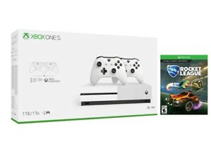 Xbox One S 1TB Bundle with 2 Controllers and 3 Month Game Pass Plus Free Game