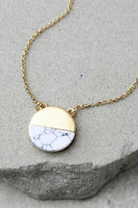 Amazing Stone Most Modern Gold and Ivory Necklace $10.50