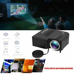 Mini Portable Multimedia LED LCD Projector Full HD 1080P Home Theater USB TF NEW