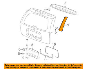 GMC GM OEM 02-09 Envoy Liftgate Tailgate Hatch-Side Molding Left 88980675
