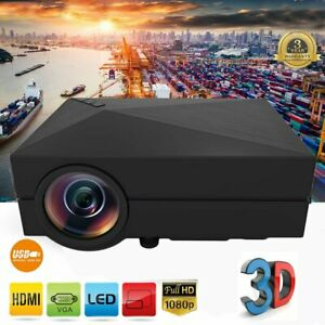 5000LM LED Projector Full HD 1080P Multimedia Home Cinema Theater HDMI USB VGA