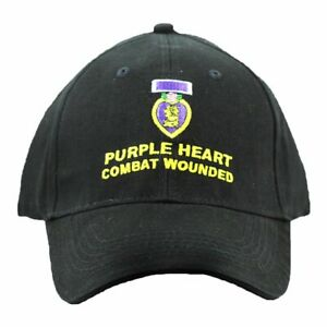US Purple Heart Combat Wounded Hat For Men and Women, Purple Heart Insignia