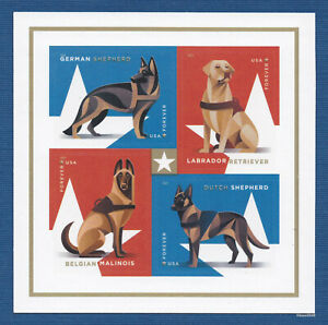 *NEW* 2019 Military Working Dogs (Block of 4) 2019 MNH (Ships after 81)