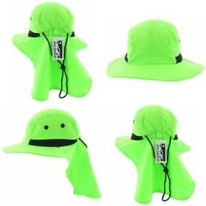 Outdoor Sun Hat with Neck Flap Wide Brim Fishing Hiking for Adult and Kids Sizes