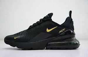 MENS BLACK GOLD NIKE AIR MAX 270  ATHLETIC SHOES SIZES 7-11
