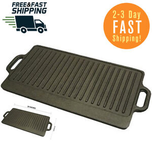 20-Inches Iron Cast Reversible Griddle Grill Pan Hamburger Steak Stove Lodge NEW